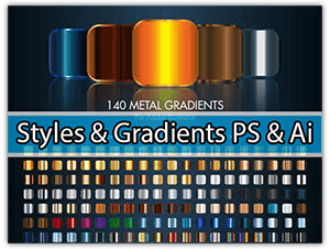 Styles y Gradients de Metal y Diamantes