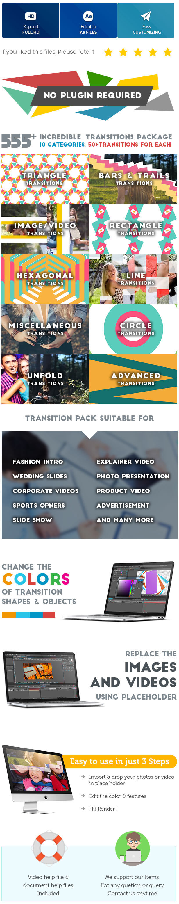 Videohive: Transitions 555 - After Effects Template