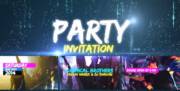 Videohive: Party Invitation - After Effects Template