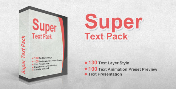 Videohive: Super Text Pack - After Effects Preset