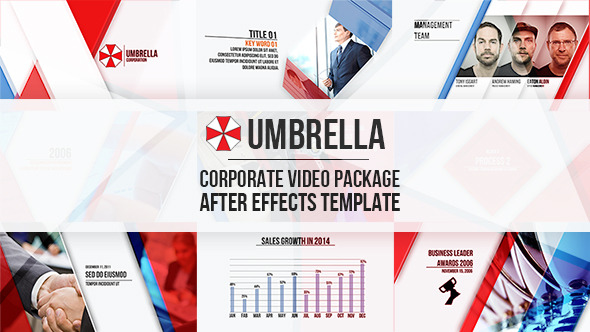 Videohive: Umbrella - Corporate Video Package - After Effects Projects