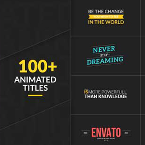 100+ Animated Titles