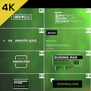Videohive: 100 Simple Titles and Lowerthirds - Project for After Effects 4K