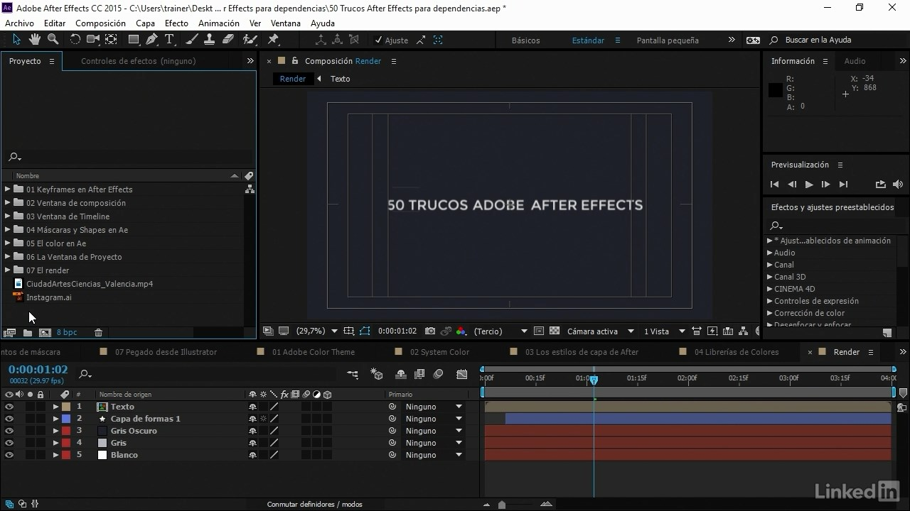 Videos2Brain: 50 trucos de After Effects