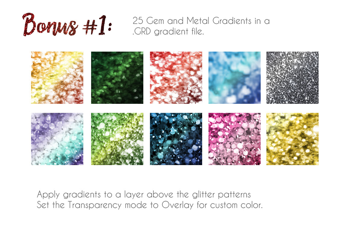 CreativeMarket: Glitter Texture Patterns Photoshop [Patrones textura de brillo]
