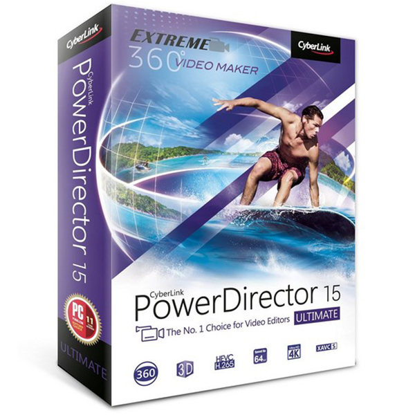 CyberLink PowerDirector Ultimate v15.0.2509.0 [Edición de Vídeo Rápida & Flexible]
