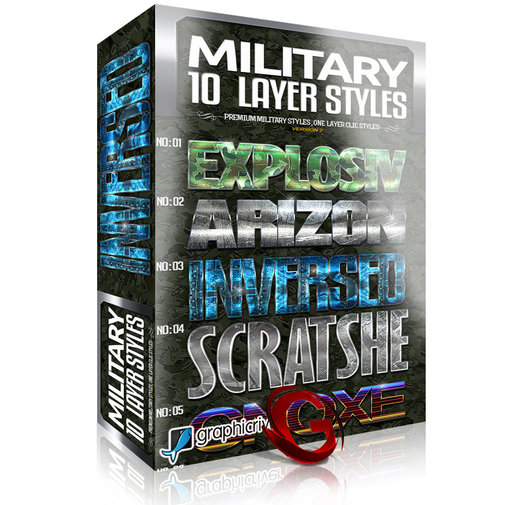 GraphicRiver: 10 Premium Military Styles V2