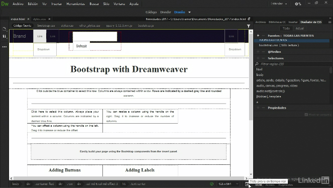 Videos2Brain: Novedades de Dreamweaver CC 2017