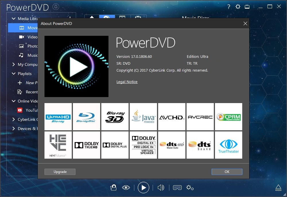 CyberLink PowerDVD Ultra v17.0.2101.62