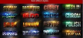 238 Super Bundle Text Effect Estilos para Photoshop