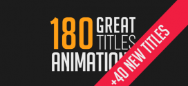 VideoHide | 180 Great Title Animations – After Effects Project Files