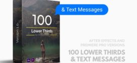VideoHive | 100 Lower Thirds and Messages for Premiere Pro & After Effects – AE TEMPLATES
